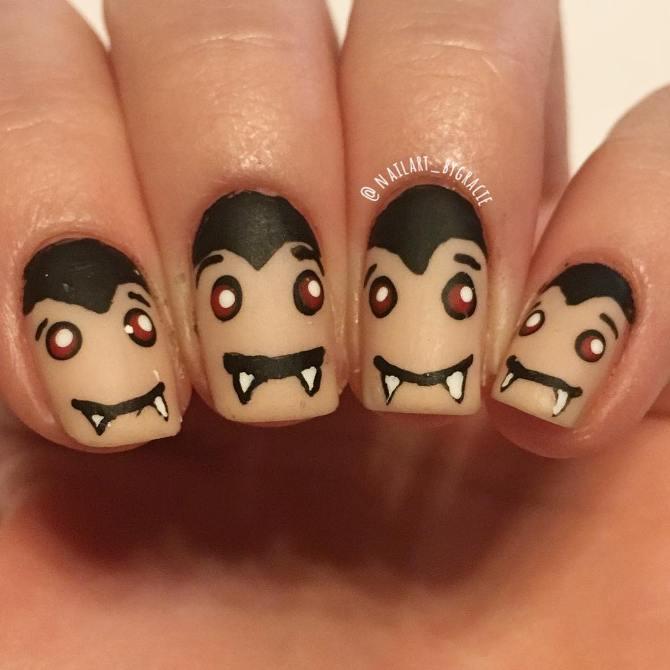 vampire halloween nail art bmodish