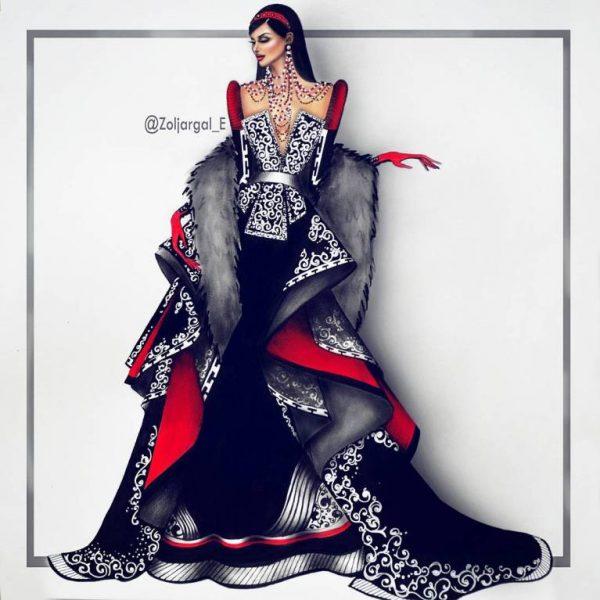 zoljargal enkhbold couture illustrator 11 bmodish