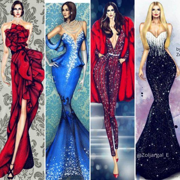 zoljargal enkhbold couture illustrator 14 bmodish