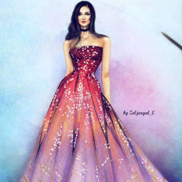 zoljargal enkhbold couture illustrator 4 bmodish