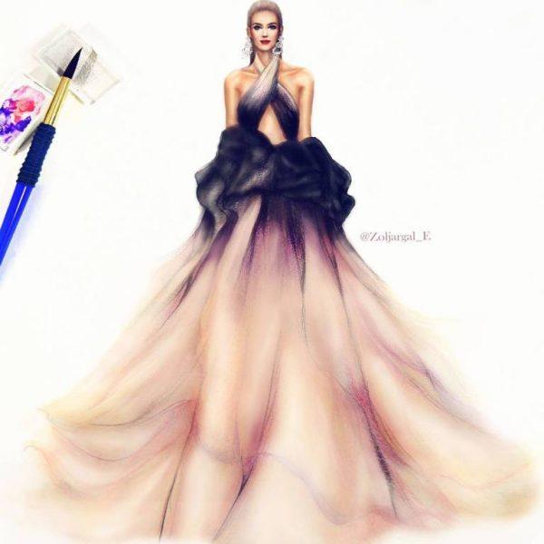 zoljargal enkhbold couture illustrator 6 bmodish