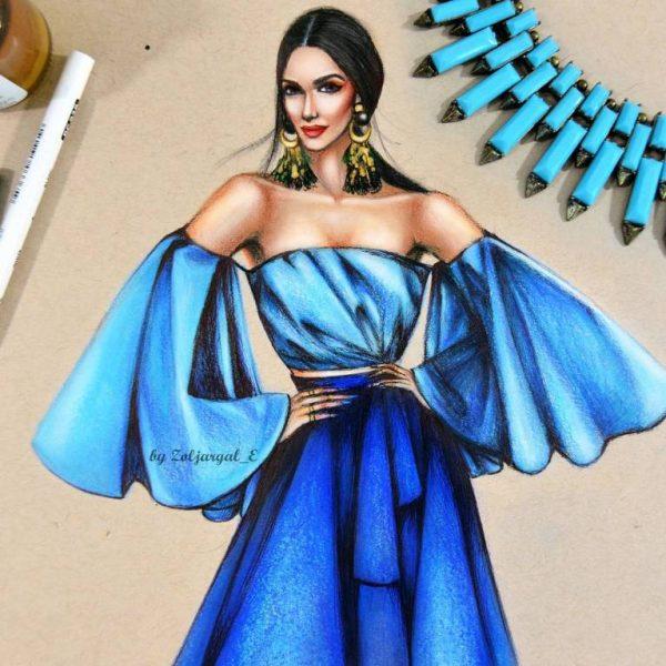 zoljargal enkhbold couture illustrator 7 bmodish