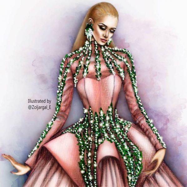 zoljargal enkhbold couture illustrator 8 bmodish
