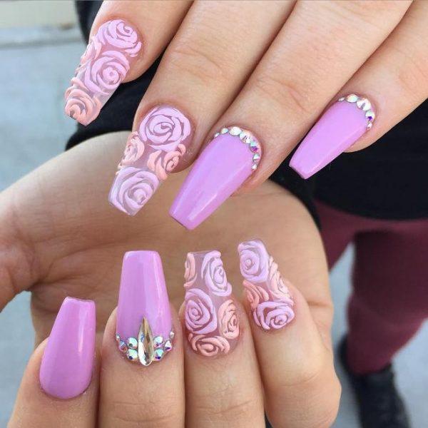 3d floral ballerina nails bmodish