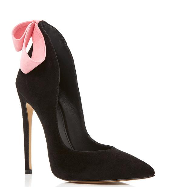 aleksander siradekian black bizo bow heels bmodish