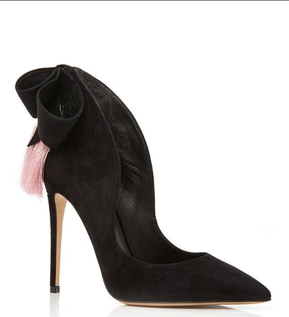 aleksander siradekian black louisa bow heels bmodish