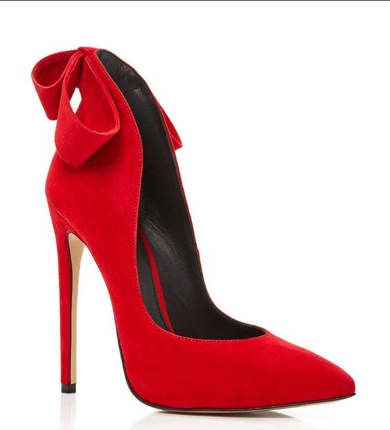aleksander siradekian red bizo bow heels bmodish