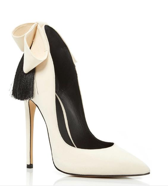 aleksander siradekian white bizo bow heels bmodish