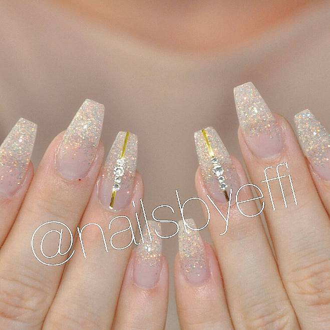 ballerina nails wedding nails bmodish