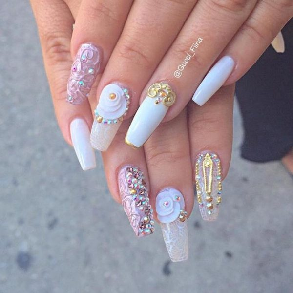 beautiful ballerina nail art design bmodish