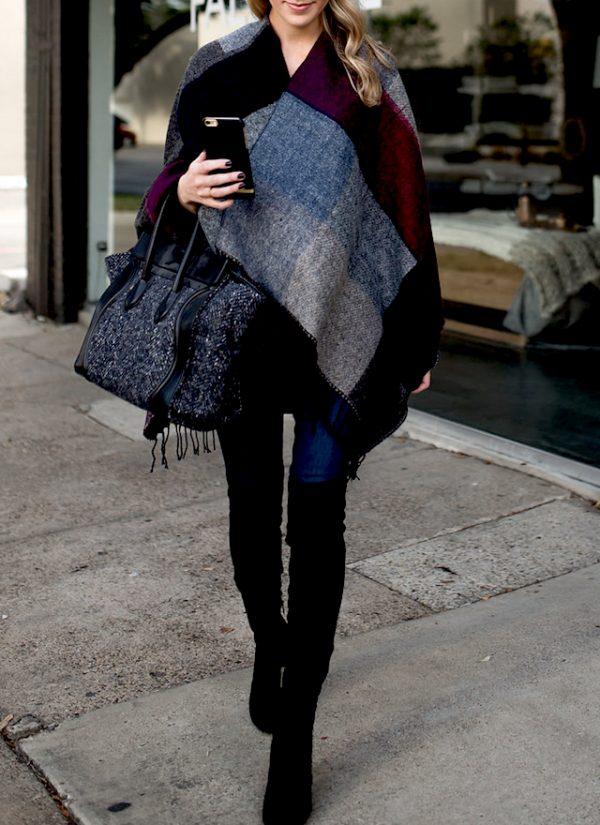 blanket scarf cozy fall outfit idea bmodish