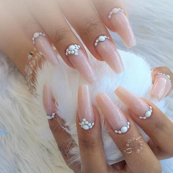 blush pink ballerina nail design bmodish