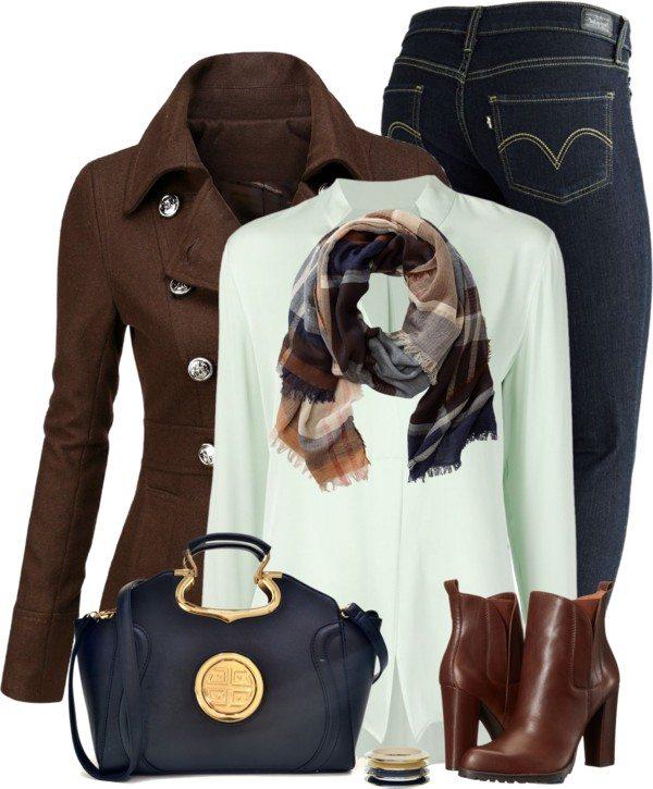 brown coat stylish fall polyvore combination bmodish