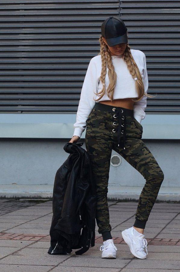 camo jogger pants hipster outfit bmodish
