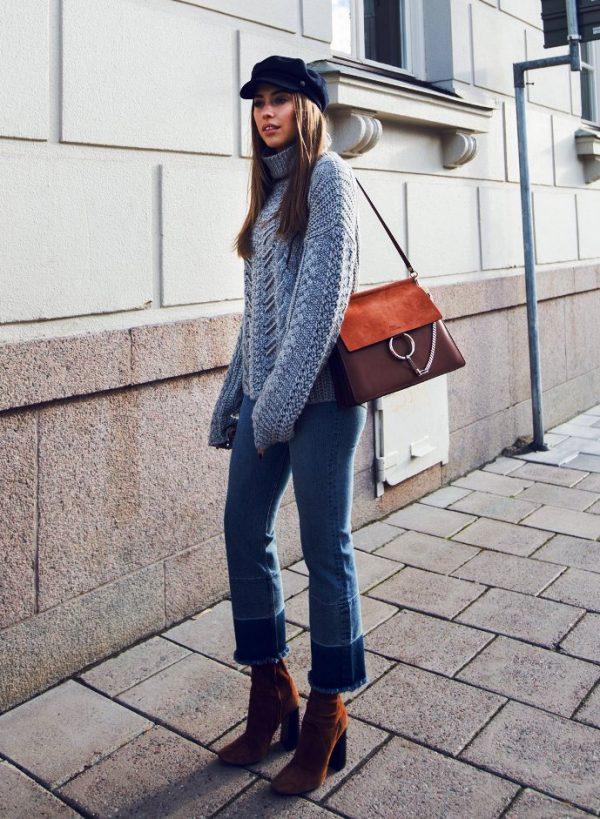 cozy knit sweater stylish fall street style bmodish