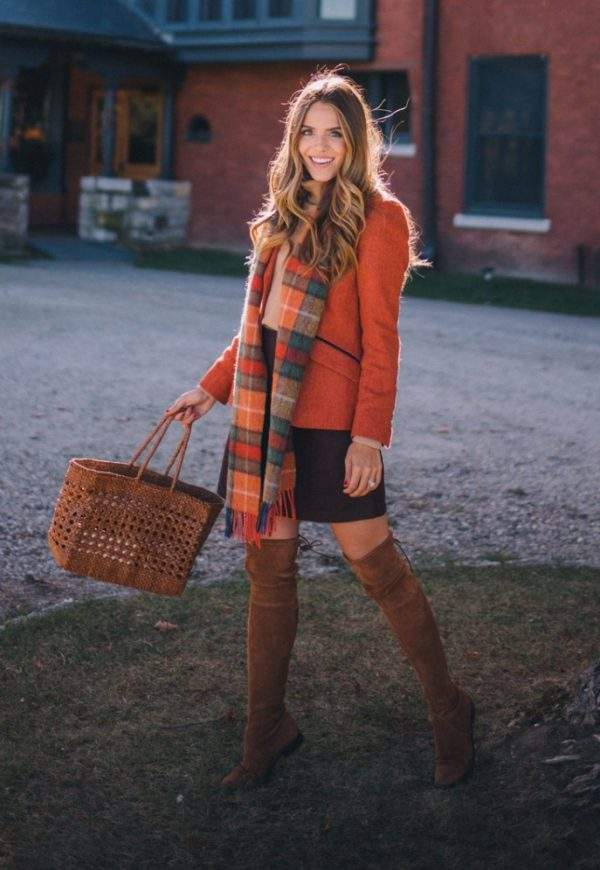fall colors outfit bmodish
