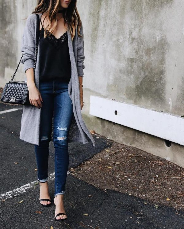 63b369fd61 Comfy and Cozy Long Cardigan Outfits For This Season - Be Modish