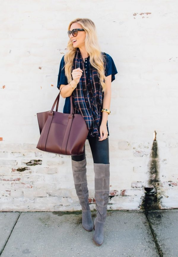 how to wear legging in fall bmodish