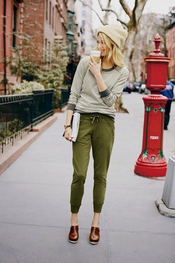 jogger pants fall outfit bmodish
