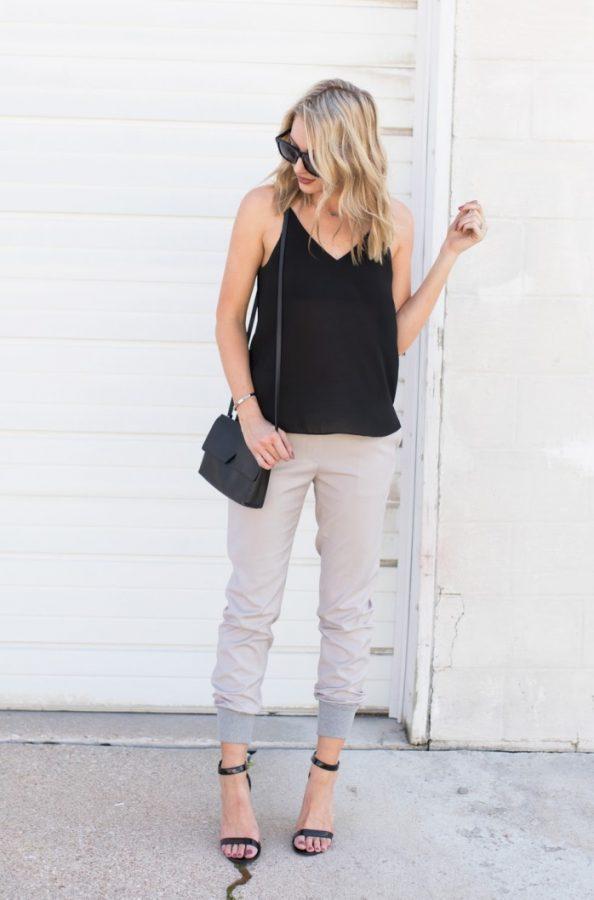 jogger pants summer outfit bmodish