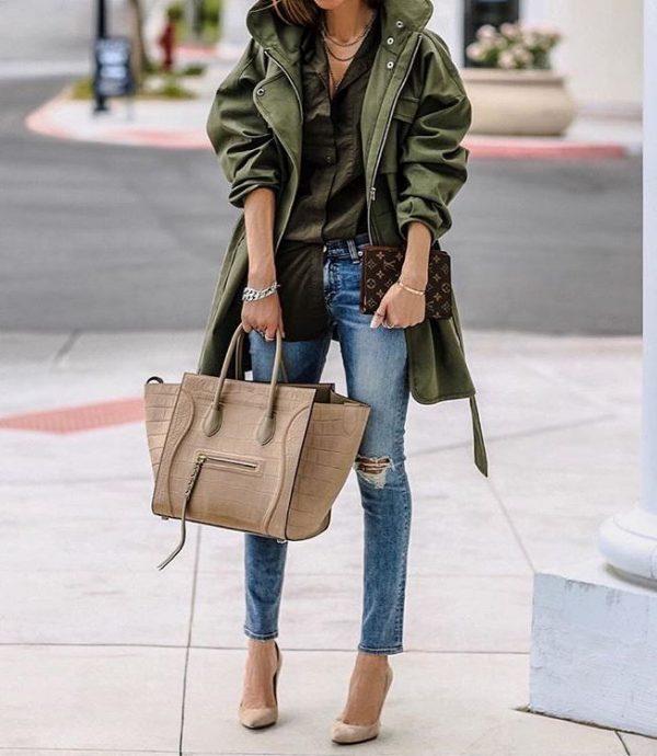 khaki trench stylish fall outfit bmodish