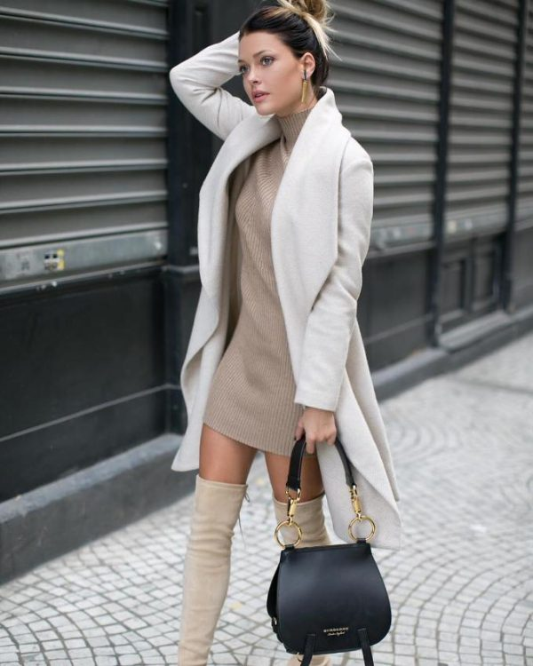 neutral fall street style outfit bmodish