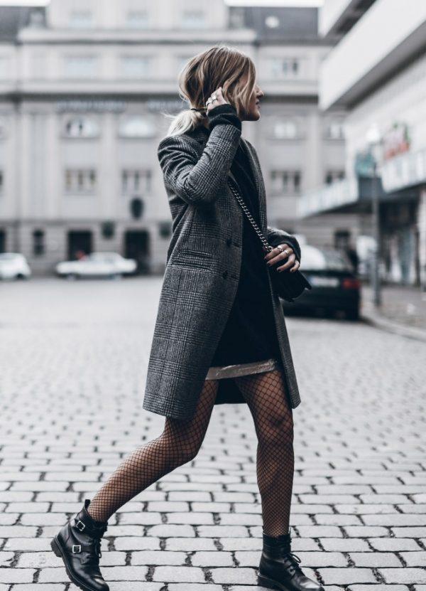 silver fishnet tights fall street style bmodish