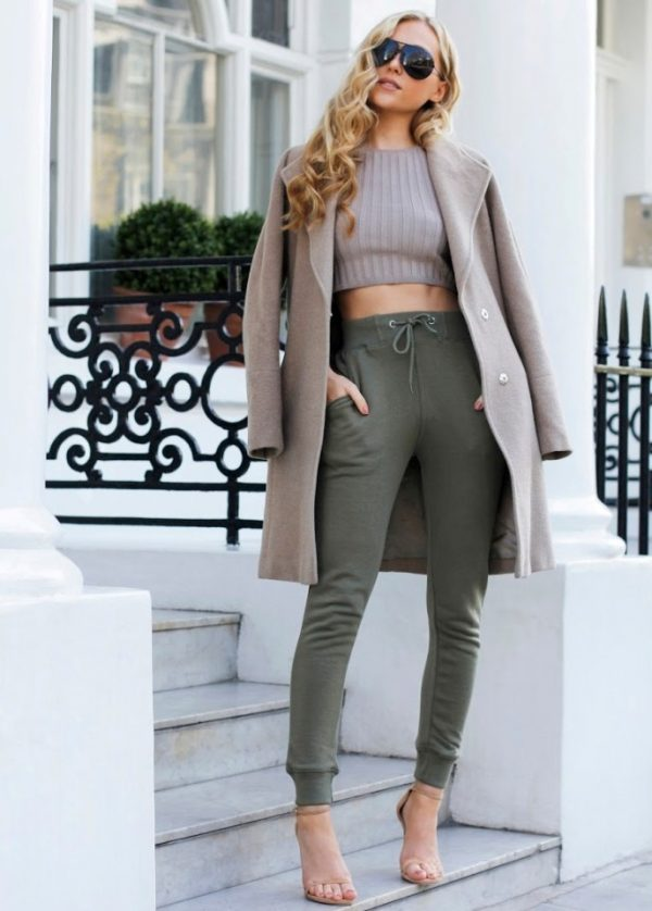 sporty chic jogger pants outfit bmodish