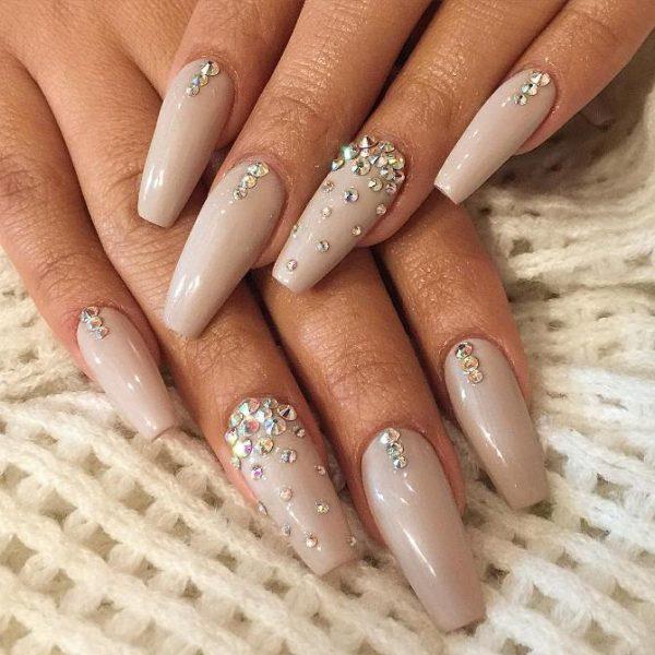 studded nude ballerina nails bmodish