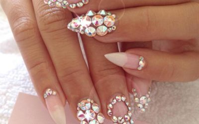 studded pointy nails bmodish