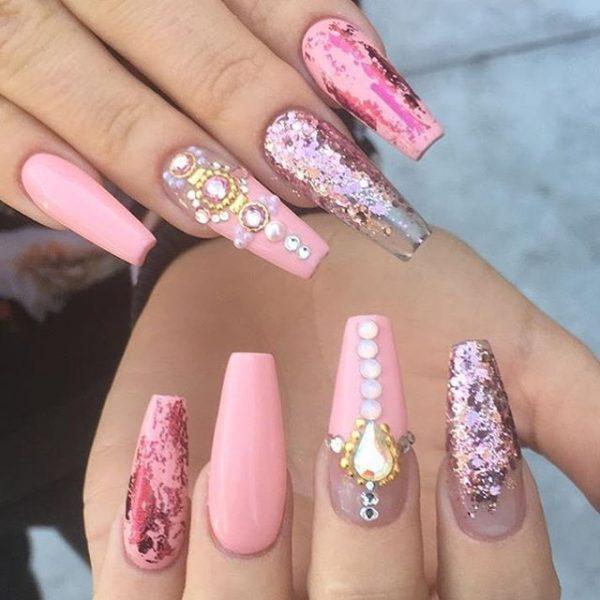 stunning pink ballerina nail design bmodish