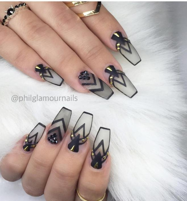 stylish ballerina coffin nails bmodish