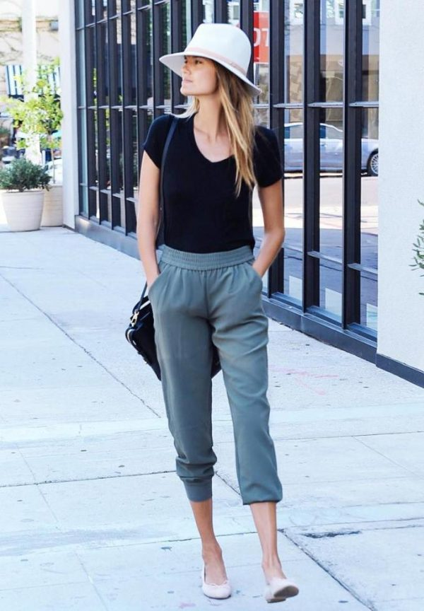 summer to fall jogger pants outfit bmodish