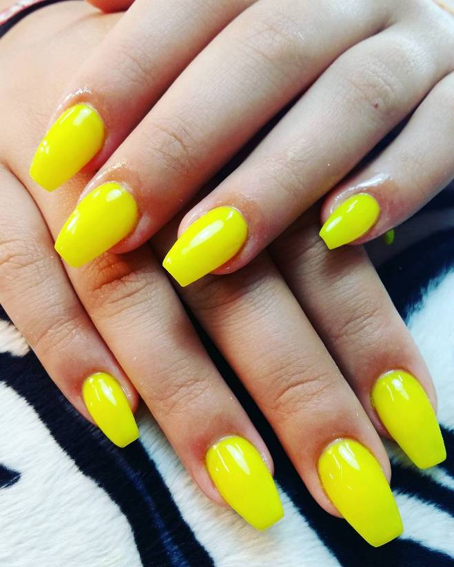 summer yellow ballerina nail art bmodish