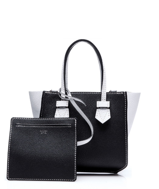 moreau black white bregancon mini zip bag bmodish