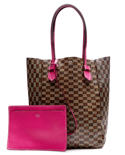 moreau brown pink vincennes vertical bag bmodish