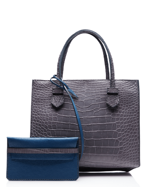 moreau grey blue bregancon small zip bag bmodish