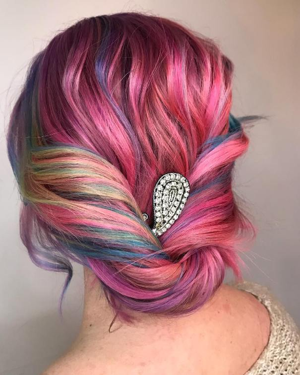 Candy Twist Updo wedding hairstyle bmodish