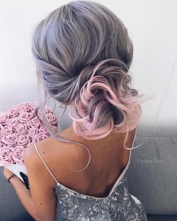 romantic low updo hair for wedding bmodish