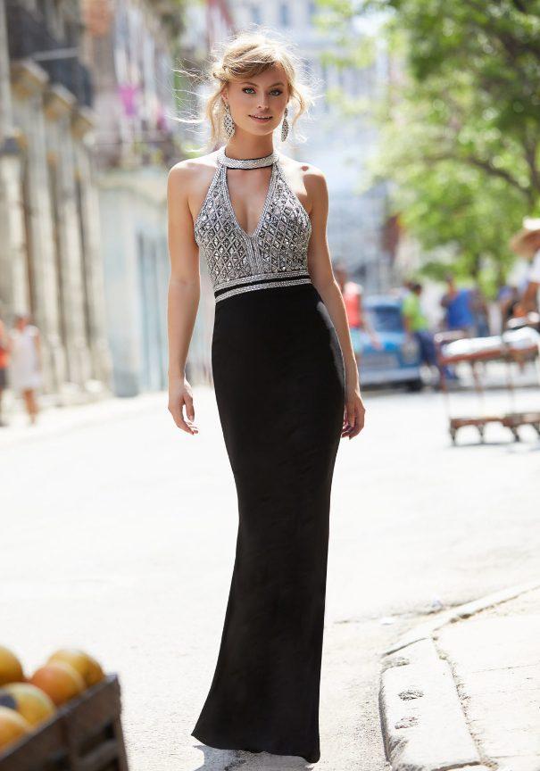 Black beaded mori lee prom dresses 2017 bmodish