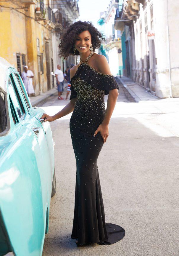 Black boho prom dress mori lee bmodish