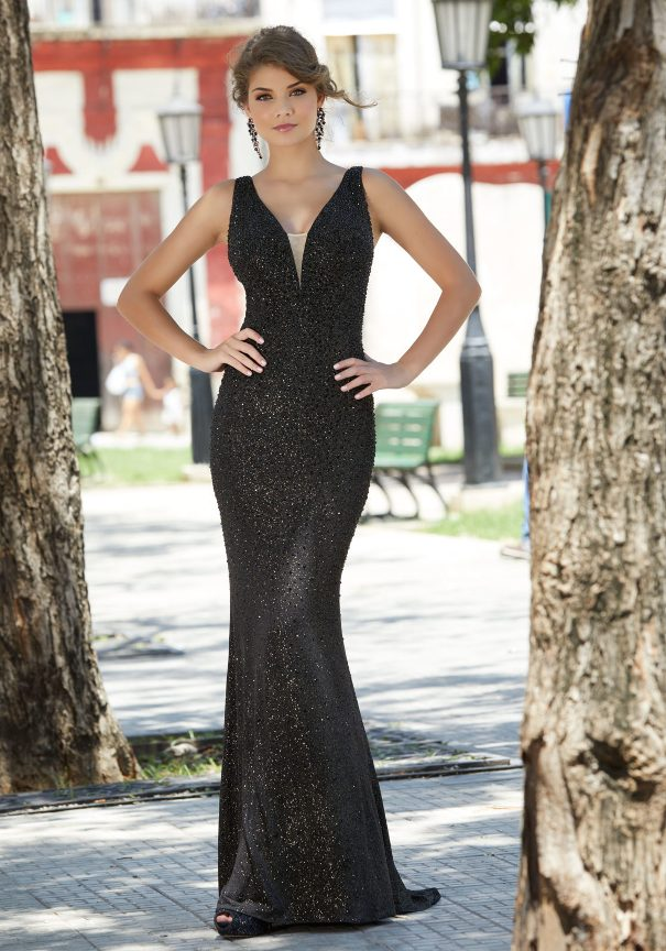 Black sparkle mori lee prom dress bmodish