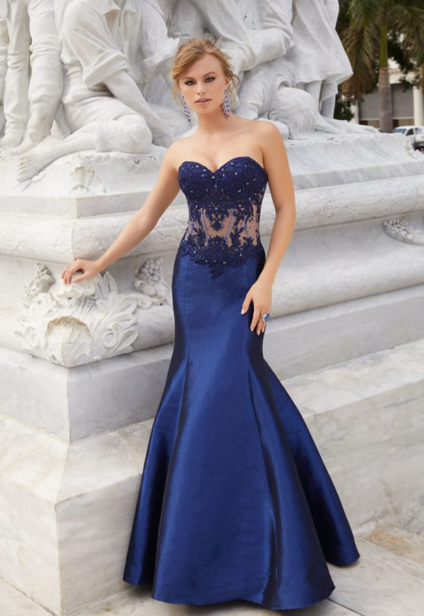 Blue Mermaid Mori Lee Prom Dress Bmodish