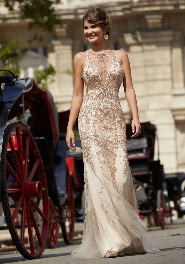Embroidered Mori Lee Prom Dress Bmodish