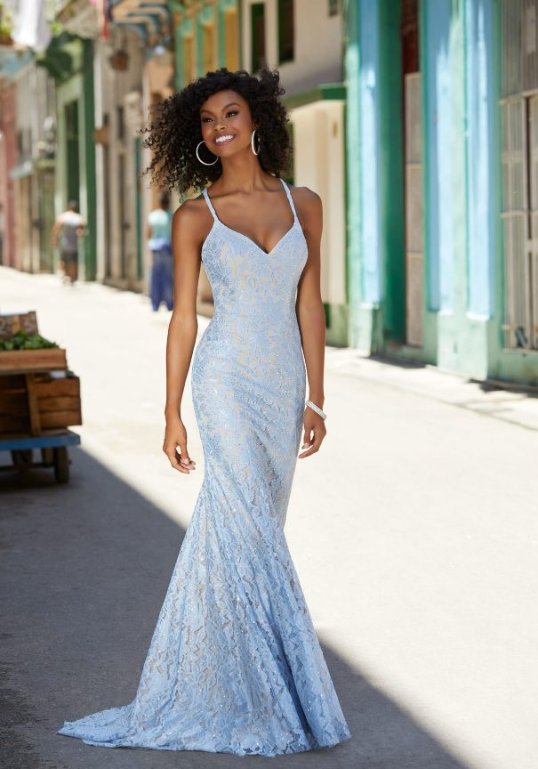 Full Length Lace Mori Lee Prom Dress Bmodish