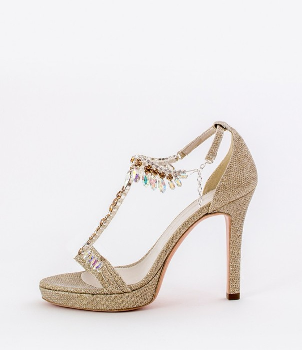 Gold Strap Heels Wedding Shoes Alessandra Rinaudo 12 bmodish