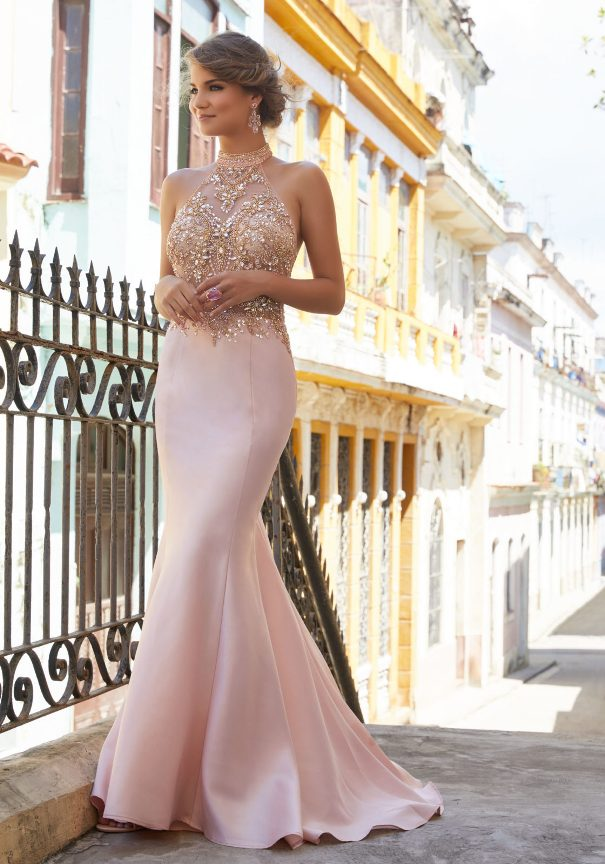 Halter Neck Mori Lee Prom Dresses 2018 Bmodish