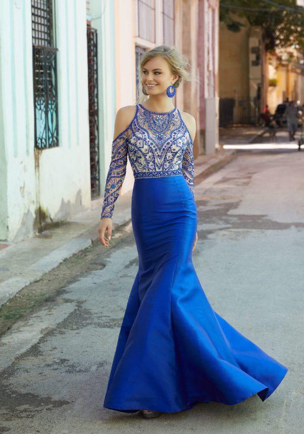 Long Sleeve Beaded Prom Dress Mori Lee Bmodish
