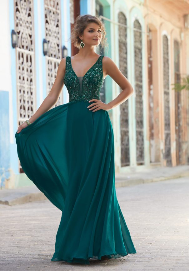 Mori Lee Chiffon Prom Dress Bmodish