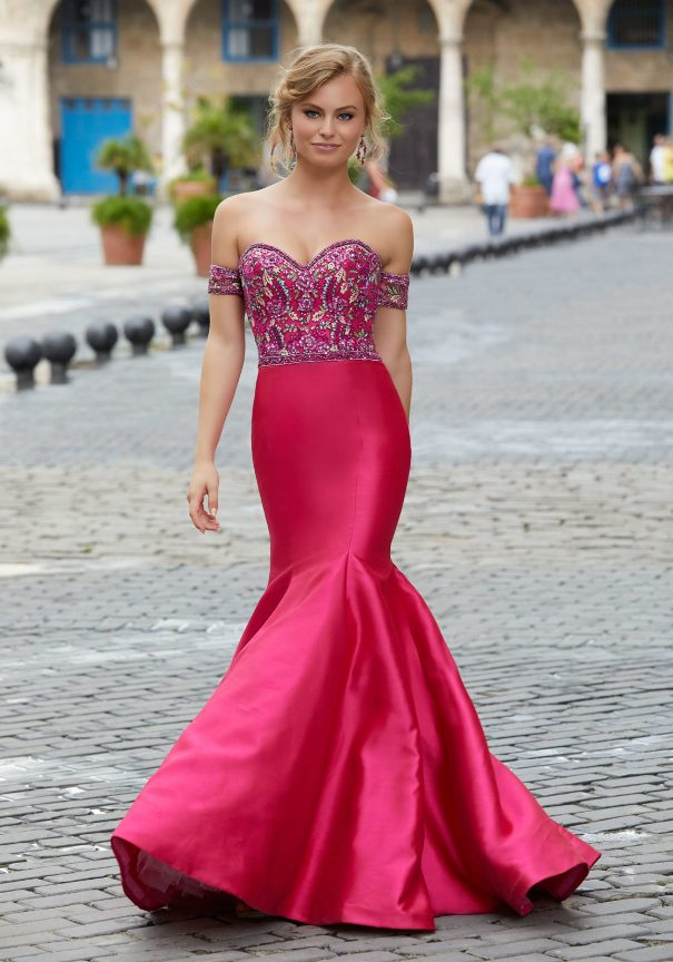 Mori Lee Satin Mermaid Prom Dress Bmodish